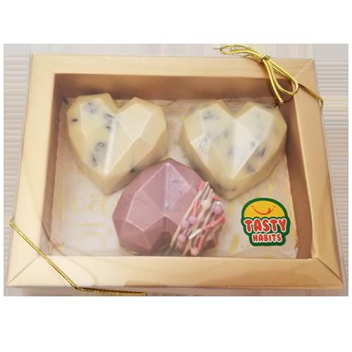 3 Hearts Chocolate Box