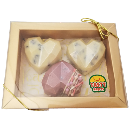 3 Hearts Chocolate Box