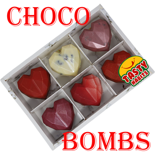 Hot Chocolate Heart Bombs