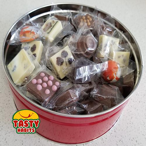 Chocolate Red Tin Box