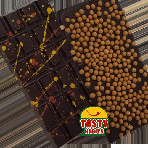 Chocolate Bar with Salted Caramel Crispearls