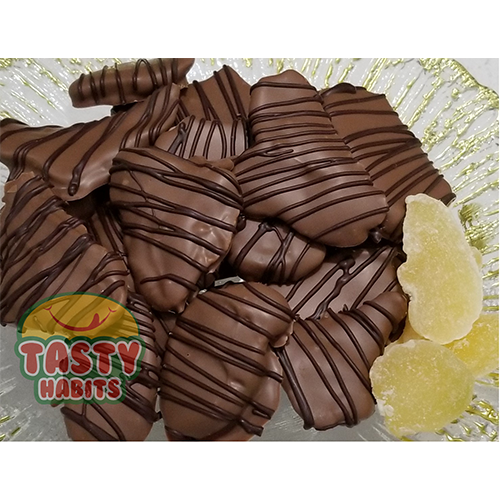 Ginger Slices Covered in Chocolate