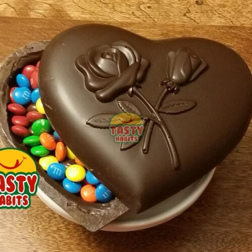 Chocolate Heart Roses Topper