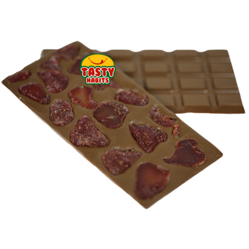 Large Milk Chocolate Bar With Dried Strawberries