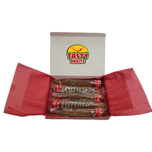 Full Pretzel Rods Red Box