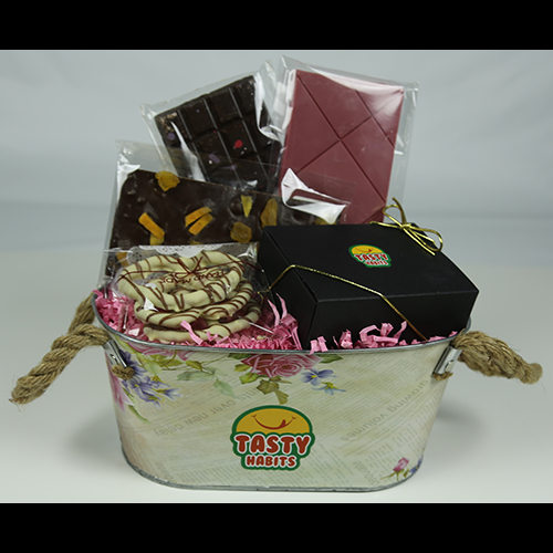 Roses Chocolate Gift Basket