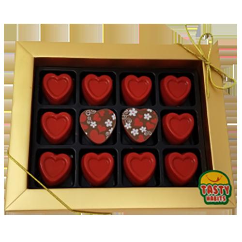 Red Hearts Chocolate Box