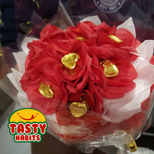 Chocolate Hearts Bouquet for Valentine